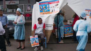 Campagne d'information pour lutter contre la propagation de la peste, à Antananarivo, le 5 octobre 2017.