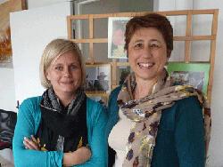 Séverine Touraton, responsable de la Halte répit itinérante et Marie-Agnès Vervin, directrice de l'AMASAD de Lignières.