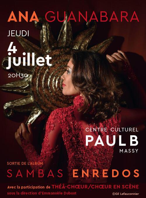 O show de lançamento na França acontece no Centro Cultural Paul B, em Massy, no dia 4 de julho de 2019.