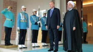 رجب طیب اردوغان و روحانی.  سپتامبر ٢٠۱٩