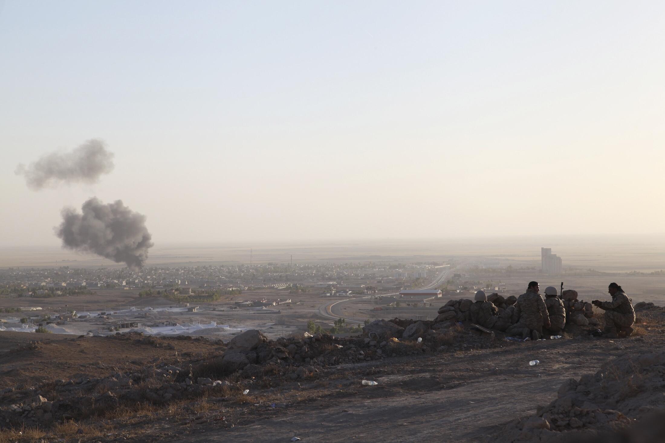 Cảnh thành phố Makhmur, phía Bắc, nơi diễn ra đụng độ với quân thánh chiến của Nhà nước  Hồi giáo. Ảnh ngày 09/08/2014
