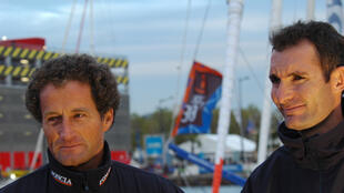 L'équipage de Foncia : Michel Desjoyaux et Jéremie Beyou