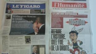 Os jornais franceses desta quinta-feira, dia 6 de Outubro de 2016.