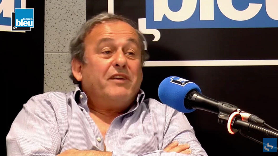 Michel Platini, durante entrevista à rádio France Bleu.