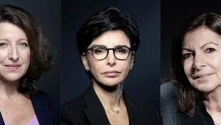 Three female candidtates for Mayor of Paris, 2020: ( l to r) Agnes Buzyn Rachida Dati , Anne Hidalgo