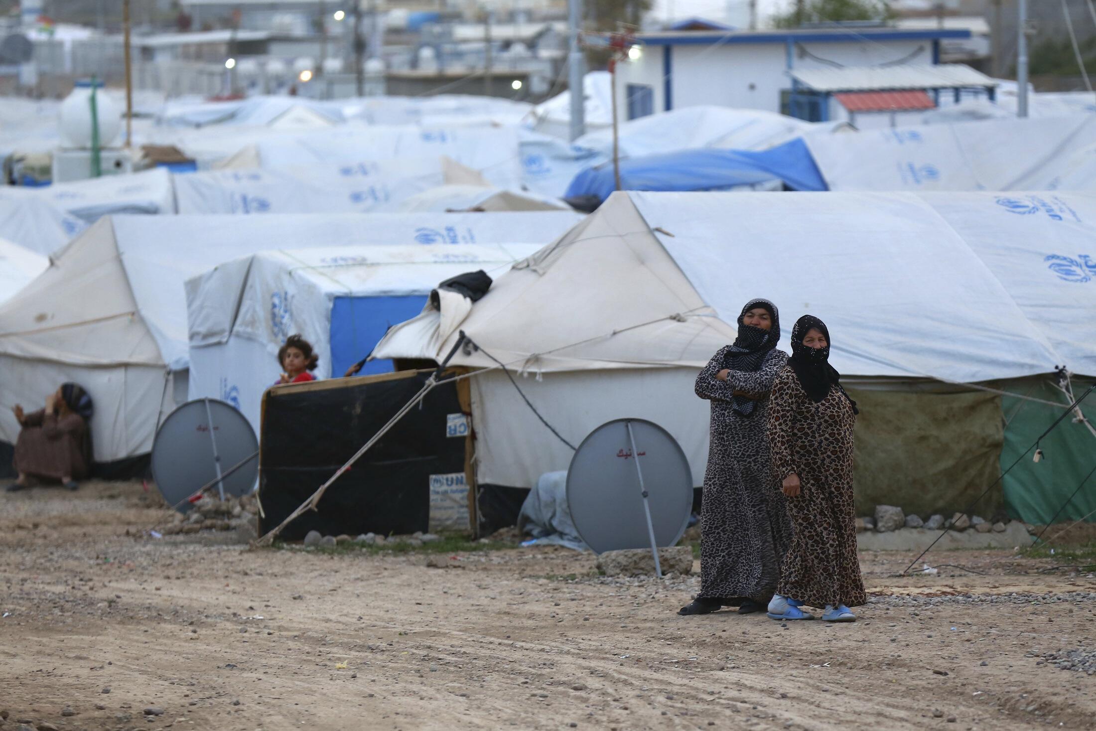 Un campo de refugiados sirios en Erbil, en la región del Kurdistándu iraquí, el 29 de 2014.
