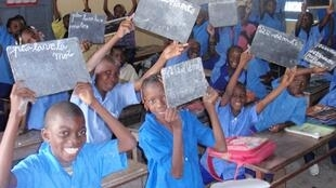 Estudiantes de primera en la Escuela Especial de Brazzaville, en la República del Congo.