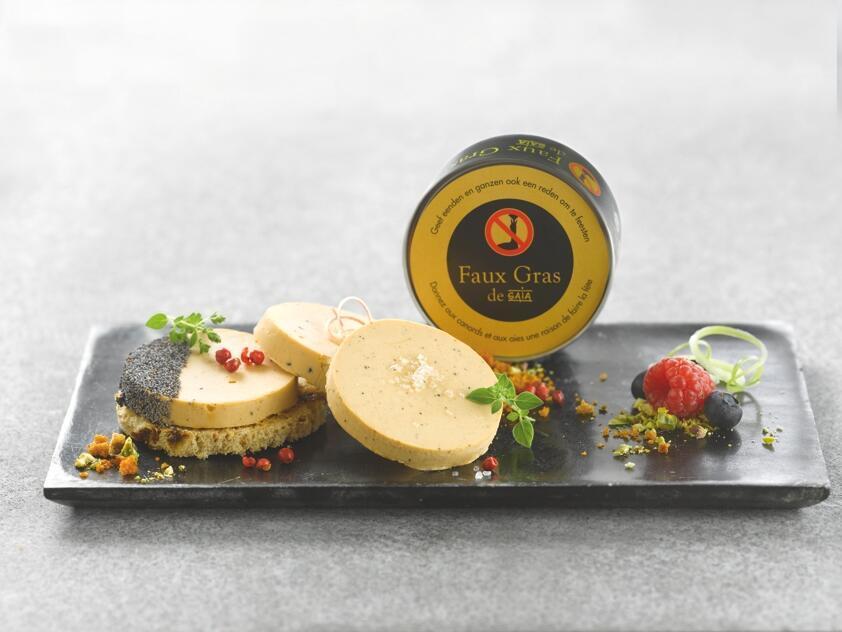 """""""Faux gras"""" brinca com o nome foie gras e quer dizer """"falso gordo""""."""