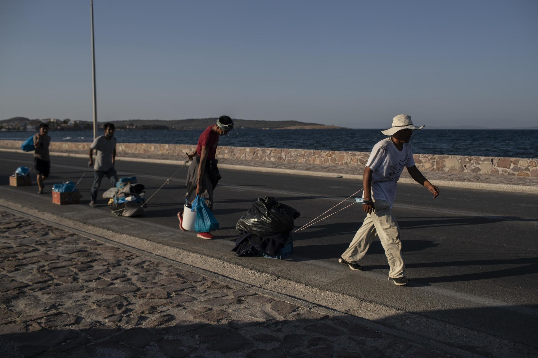 Les demandeurs d'asile aimeraient plus que tout quitter Lesbos.