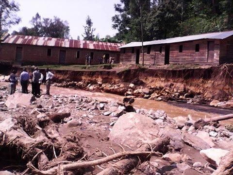 Inondations à Kahele, au Sud-Kivu, octobre 2014.