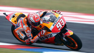 Honda's Marc Marquez will start fourth in the Grand Prix of the Americas.