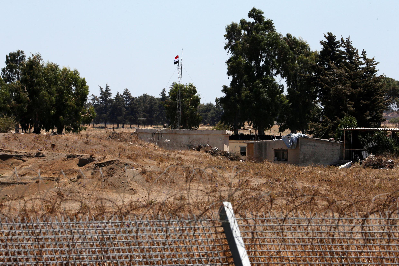 Ảnh minh họa : Vùng giới tuyến Israel - Syria ở cao nguyên Golan. Ảnh ngày 27/07/2018.