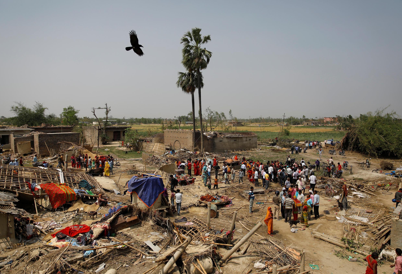 Un village détruit dans la région de Bara après le passage d'une tempête dévastatrice, le 31 mars.