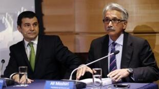 Miguel Galuccio, el presidente y CEO de YPF, y Ali Moshiri, responsable de América Latina, Medio Oriente y África para Chevron.