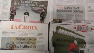 Imprensa francesa do dia 12 de Novembro de 2018