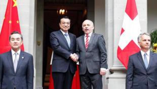 Tổng thống Thụy Sĩ Ueli Maurer tiếp Thủ tướng Trung Quốc Lý Khắc Cường tại Bern 24/05/2013