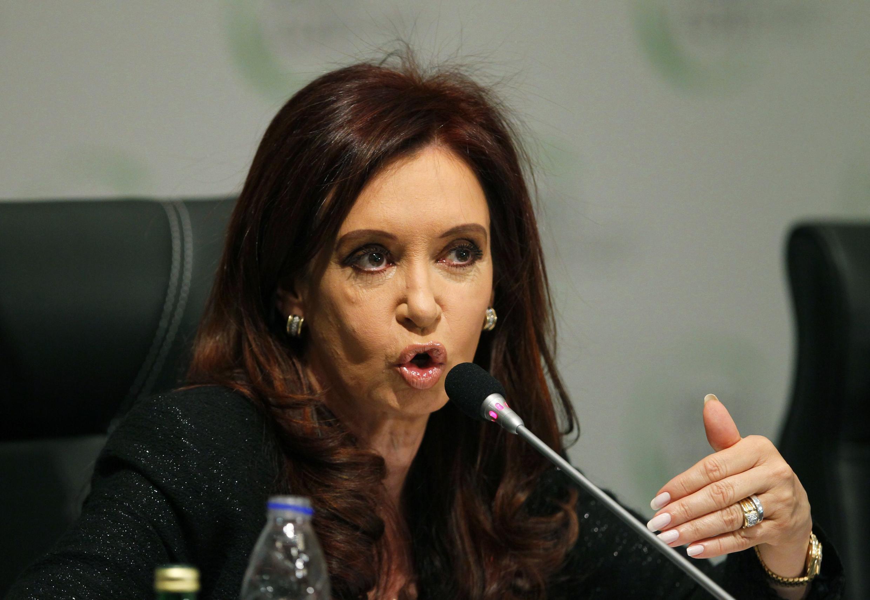 A presidente da Argentina, Cristina Kirchner.
