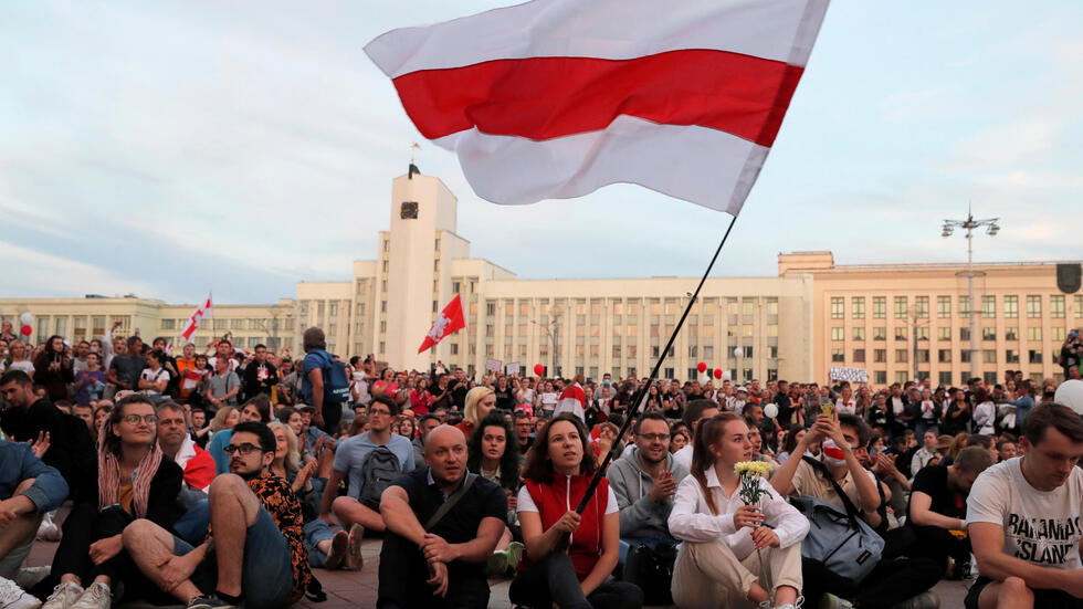 8月14日,明斯克独立广场