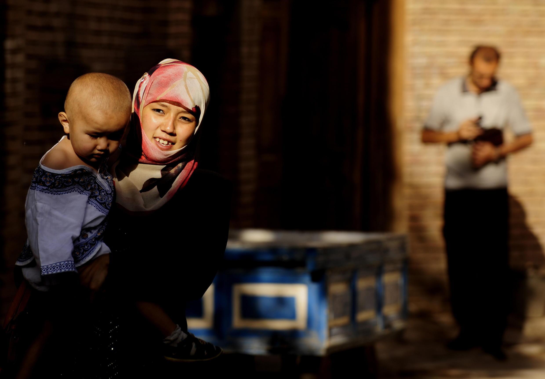 Một gia đình người Duy Ngô Nhĩ ở Tân Cương Trung Quốc.( Ảnh tư liệu năm 2009)