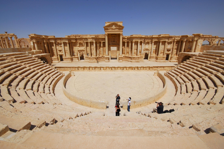 Khu di tích cổ Palmyra trước khi rơi vào tay quân thánh chiến Daech và bị tàn phá trong năm 2015.