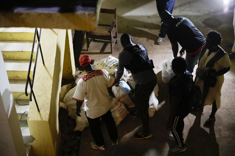 Durante a mega-apreensão da droga ontem à noite, 9 de Março de 2019, em Bissau, foram encontrados quase 800 quilos de droga.