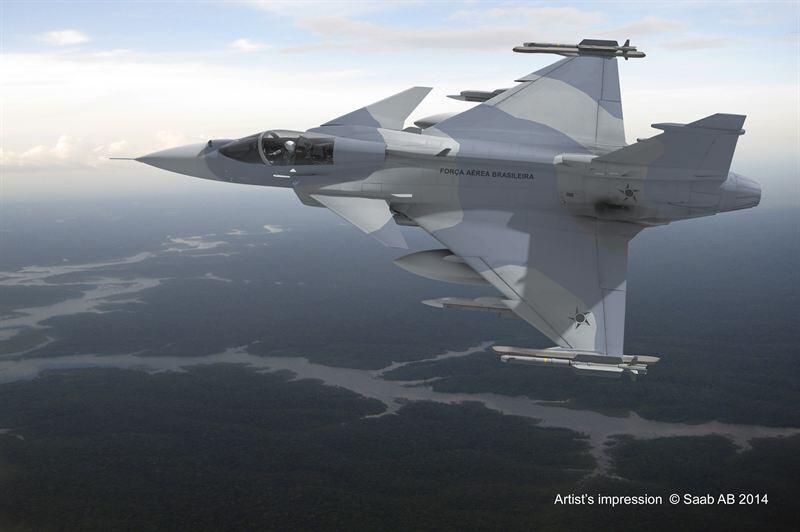 A empresa sueca Saab conclui venda de 36 caças Gripen NG ao Brasil.