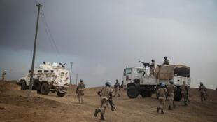 La force onusienne de la Minusma lors d'une visite à Kidal, dans le nord du Mali, en septembre 2015.