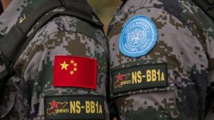 Sehemu ya kikosi cha wanajeshi wa China ambao wanahudumu nchini Sudan Kusini, 27 February 2015.