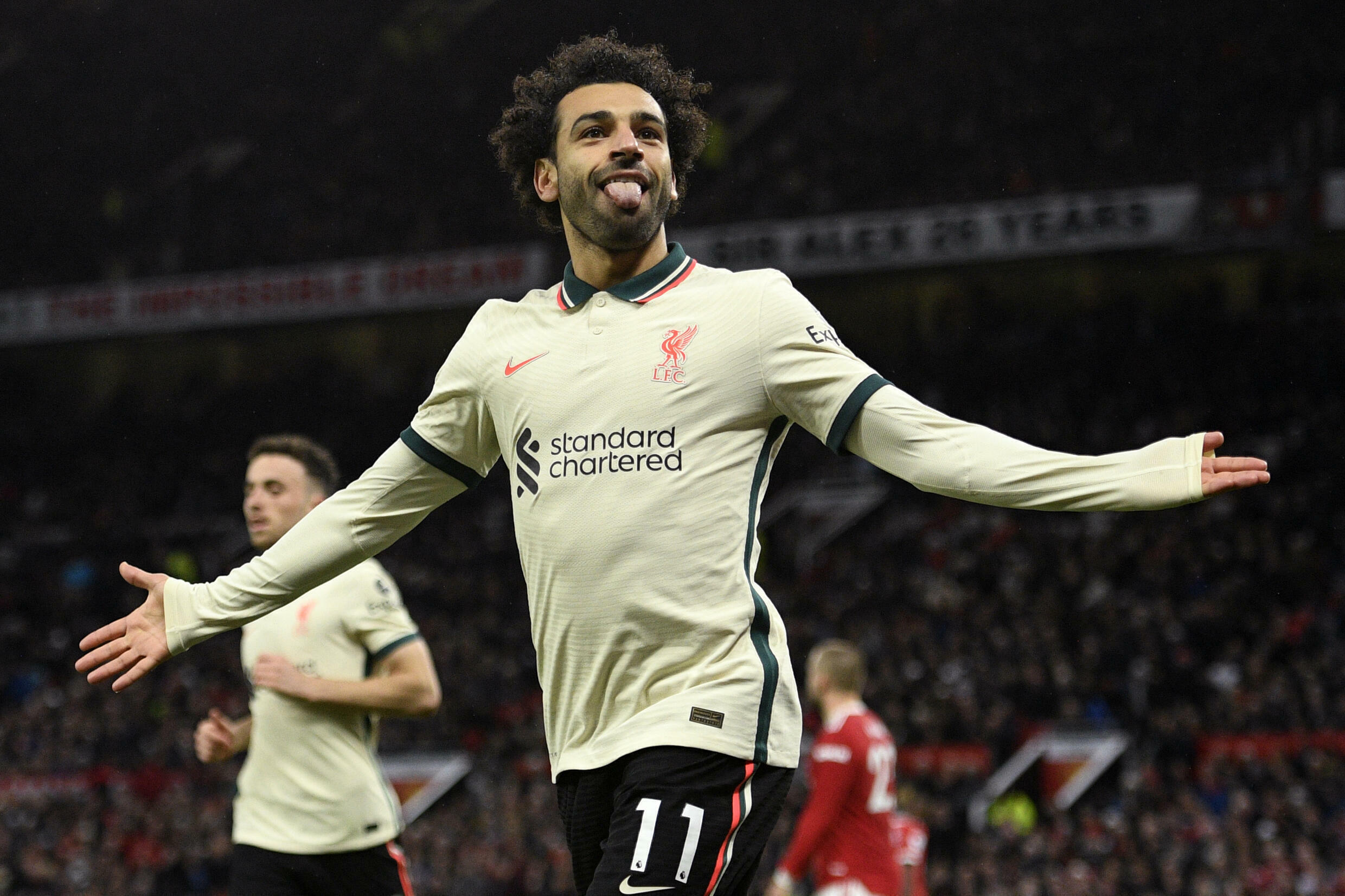 Egyptian King: Mohamed Salah's hat-trick against Manchester United made him the top-scoring African player in Premier League history