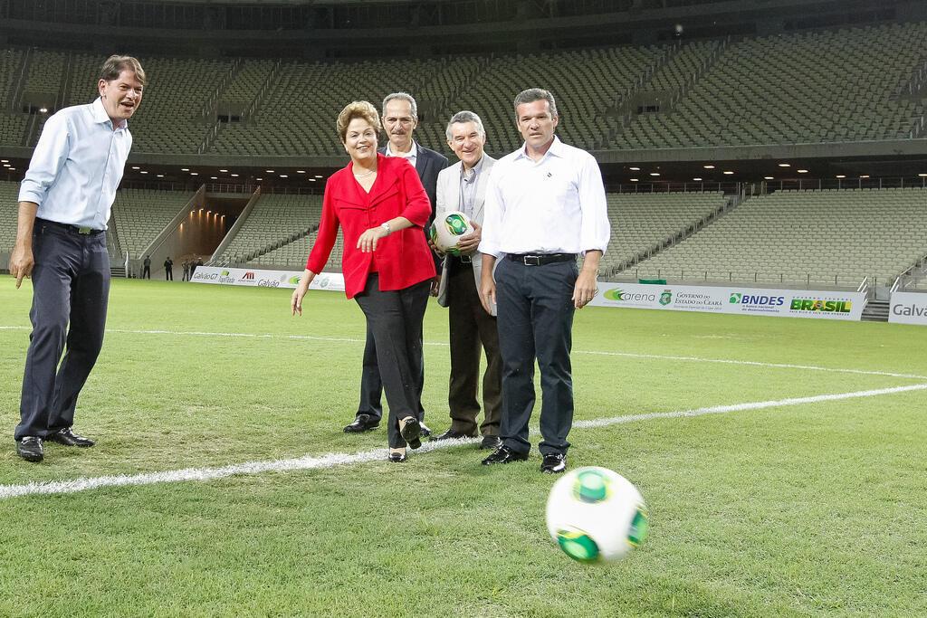 Presidenta Dilma visita as instalações e participa da cerimônia de inauguração da Arena Castelão Fortaleza-CE, 16/12/2012
