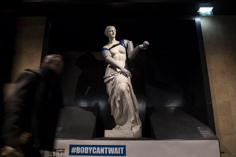 Копия статуи Венеры Милосской с протезами, напечатанными на3D-принтере. Акция получила название #BodyCantWait.