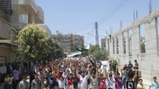 Biểu tình phản đối chính quyền, gần Hama, 05/06/2012.
