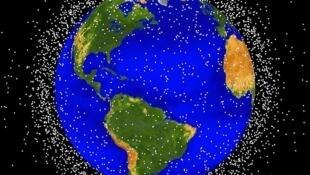 Cartographie des principaux débris spatiaux en orbite terrestre.