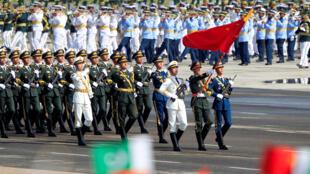 圖為解放軍首次參加巴基斯坦閱兵