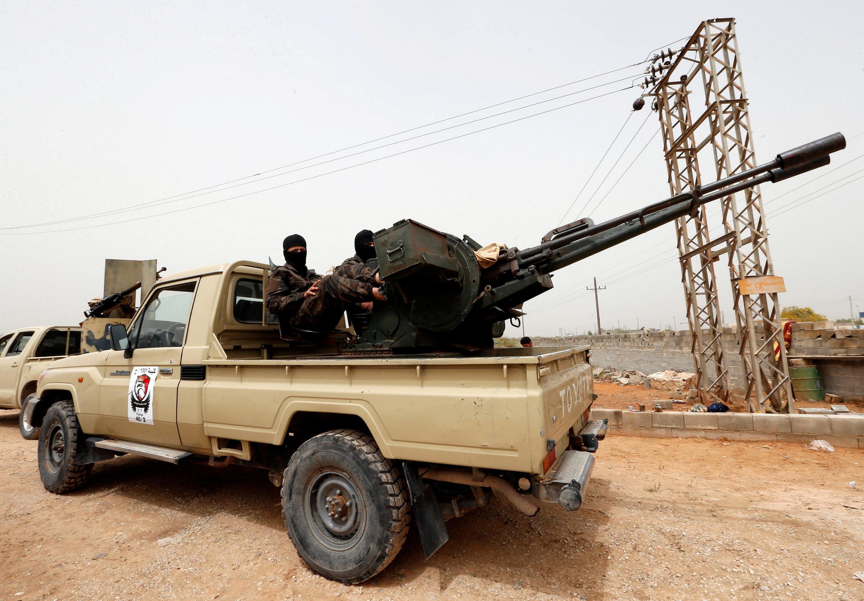 Представители вооруженных формирований в городе Мисрата на западе Ливии, 5 апреля 2019 г.