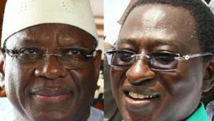 Ibrahim Boubacar Keïta (à gauche) et Soumaïla Cissé.