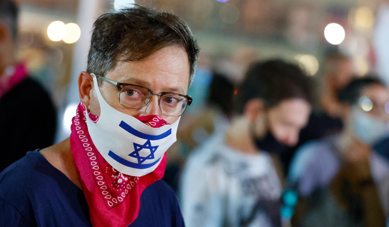 Un manifestante anticonfinamiento en Tel Aviv, Israel, el 17 de septiembre de 2020