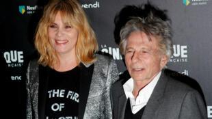 Emmanuelle Seigner and Roman Polanski at the Cinematheque de Paris last year