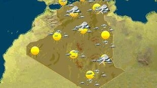 Stormy weather - the meteorological office's map on Monday