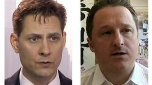 被中方扣押的加拿大前外交官康明凯(Michael Kovrig 左)和公民迈克尔·思巴夫(Michael Spavor)