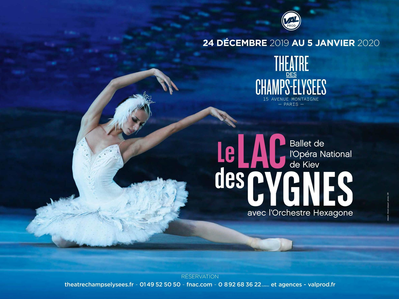 乌克兰芭蕾舞团从12月24日到1月5日在巴黎香榭丽舍剧院上演经典芭蕾舞剧《天鹅湖》