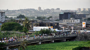 Vue de Marcory, dans la banlieue d'Abidjan.