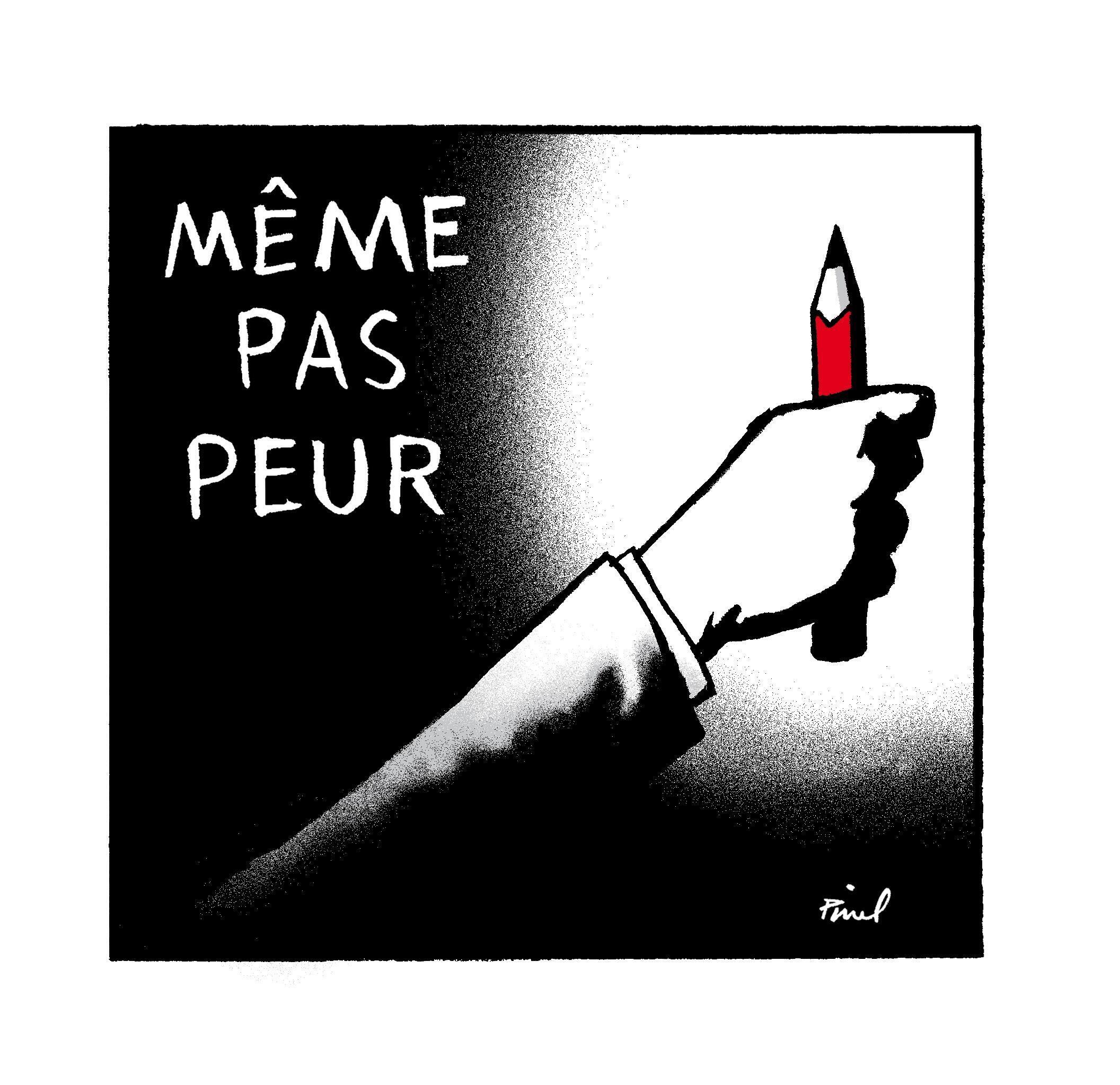 Dibujantes del mundo entero se solidarizaron con los caricaturistas de Charlie Hebdo.