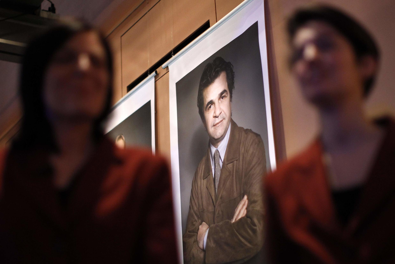 Portrait du cinéaste iranien, au festival international du film de Berlin.