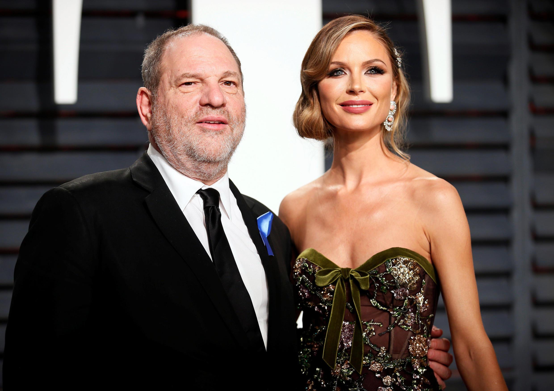 Harvey Weinstein e Georgina Chapman, que anunciou fim da relação com o produtor.