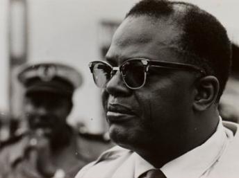 Hubert Maga, président de la République du Dahomey.