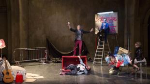 FALSTAFE, une mise en scène de Lazare Herson-Macarel après le texte de Valère Novarina d'après HENRI IV de William Shakespeare.