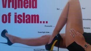 "New version tweeted by ""Women against islamisation"" leader Filip Dewinter"