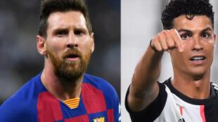 Lionel Messi (FC Barcelone) et Cristiano Ronaldo (Juventus Turin).