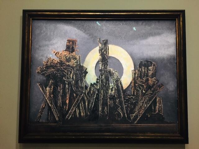 Tranh sơn dầu « Đại Ngàn ». Họa sĩ Max Ernst vẽ năm 1927.